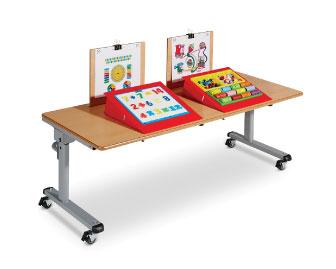 2 Persoons Tafel : Twee persoons tafel met elektronische hoogteverstelling met